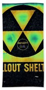 Fallout Shelter Abstract 2 Beach Towel