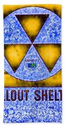 Fallout Shelter Abstract 4 Beach Towel