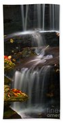 Falls And Fall Leaves Beach Towel