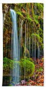 Falls And Moss Beach Towel