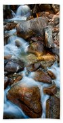 Falls And Rocks Beach Towel