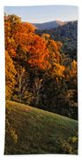 Fall's Mountainside Cascade Beach Towel
