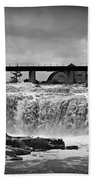 Falls Of The Big Sioux Beach Towel