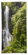 Falls On The Road To Hana Beach Towel