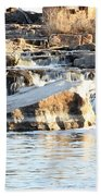 Falls Park Waterfalls Beach Towel
