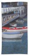 False Creek Ferry Landing Beach Towel by Brenda Salamone