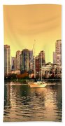 False Creek Triptych Centre Panel Beach Towel