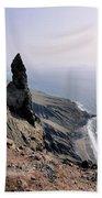 Famara Cliffs On Lanzarote Beach Towel
