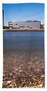 Famous Crane Houses Kranhaeuser In Cologne Beach Towel