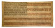 Famous Patriotic Quotes American Flag Word Art Beach Sheet