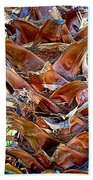 Fan Palm Trunk In Andreas Canyon In Indian Canyons-ca Beach Towel