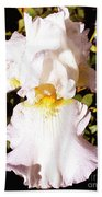 Fancy Lady White Iris Beach Towel
