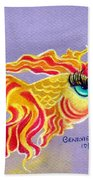 Fancytail Goldfish Beach Towel