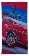 Fangio At Monaco 57 Beach Sheet