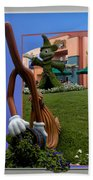 Fantasia Mickey And Broom Floral Walt Disney World Hollywood Studios Beach Towel