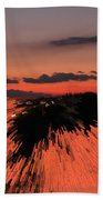 Fantastic Space Sunset Beach Towel