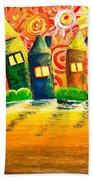 Fantasy Art - The Village Festival Beach Towel