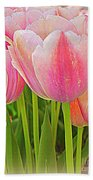 Fantasy In Pink - Tulips Beach Towel