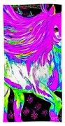 Fantasy Painted Dream Horse Beach Towel