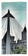Fantasy London . Old Spires New Beach Towel