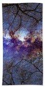 Fantasy Stars Milkyway Through The Trees Beach Towel