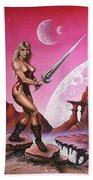 Fantasy Warrior Princess Beach Towel