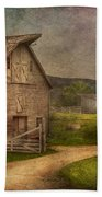 Farm - Barn - The Old Gray Barn  Beach Towel