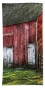 Farm - Barn - The Old Red Barn Beach Towel