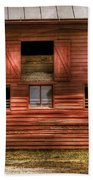 Farm - Barn - Visiting The Farm Beach Towel by Mike Savad