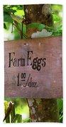 Farm Eggs Beach Towel