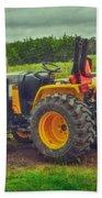 Farm Tractor Beach Towel