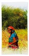 Farmers Fields Harvest India Rajasthan 2a Beach Towel