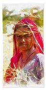 Farmers Fields Harvest India Rajasthan 8 Beach Towel