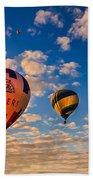 Farmer's Insurance Hot Air Ballon Beach Towel by Robert Bales