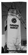 Farmers Market Bw Beach Towel