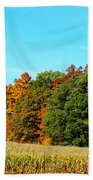 Farmfield Fall Beach Towel