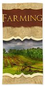 Farming And Country Life Button Beach Towel