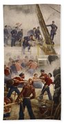Farragut On The Hartford At Mobile Bay Beach Towel
