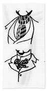 Fashion Cravats And Ties Beach Towel
