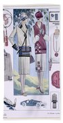 Fashion Plate, From La Femme Chic Beach Towel