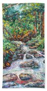 Fast Water Wildwood Park Beach Towel by Kendall Kessler