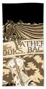 Father Time Looks Back Beach Towel