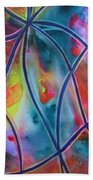 Faux Stained Glass II Beach Towel
