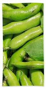 Fava Bean Pods Beach Towel