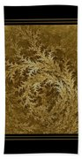 Fear Of The Forest-2 Framed Black And Gold Beach Towel