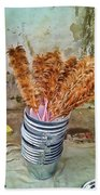 Feather Duster Bouquet Beach Towel