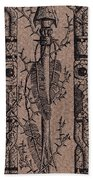 Feathers Thorns And Broken Arrow Bookmark No1 Beach Towel