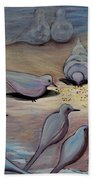 Feed The Birds Beach Towel