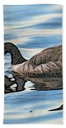 Feeding Goose Beach Towel