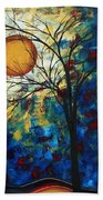 Feel The Sensation By Madart Beach Towel